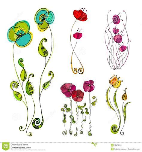 imagenes de flores ilustradas flores lindas ilustradas imagenes de archivo imagen