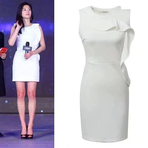 Dress Cantik Pendek dress putih cantik polos lengan pendek model terbaru