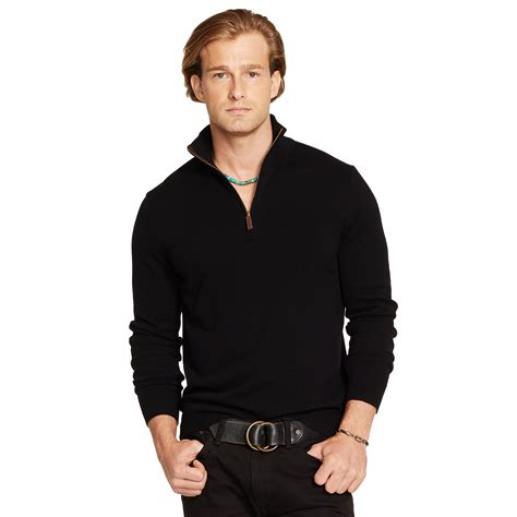 Hoodie Jumper Polos Black Jmp3 polo ralph half zip sweater in black for