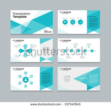 Abstract Vector Business Presentation Template Slides Stock Vector 337343945 Shutterstock Business Slide Presentation Template