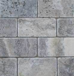 travertine machiatto silver tumbled 3x6 subway tile