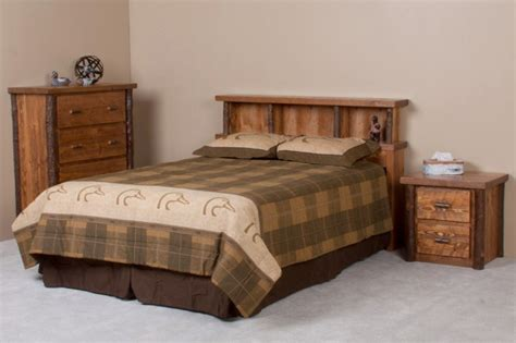 Smoky Mountain Furniture by Smoky Mountain Barnwood Hickory Headboard Rustic