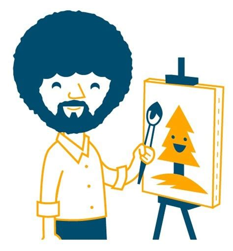 bob ross painting clip ross cheeks clipart clipground
