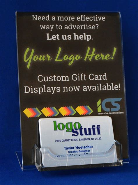 card display gift card display with insert 4icscards