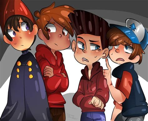 norman the garden wall all together by neokogendoshi wirt of the garden