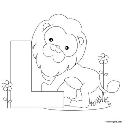Printable Animal Alphabet Worksheets Letter L Is For Lion Princess Coloring Games L