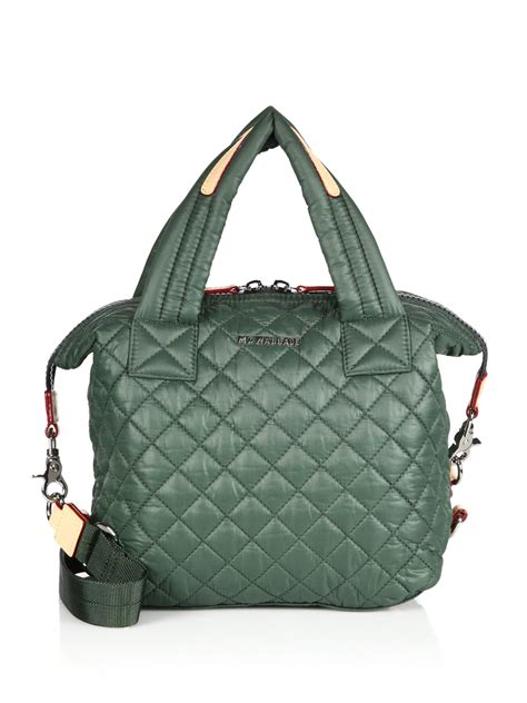 Quilted Totes by Mz Wallace Sutton Small Quilted Tote In Green Lyst