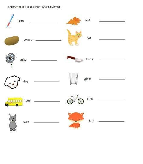 testi in inglese per scuole medie esercizi plurale inglese scuola primaria