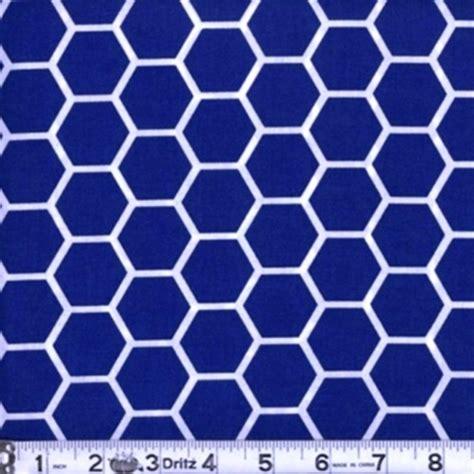 blue pattern royal cotton fabric pattern fabric honeycomb pattern white