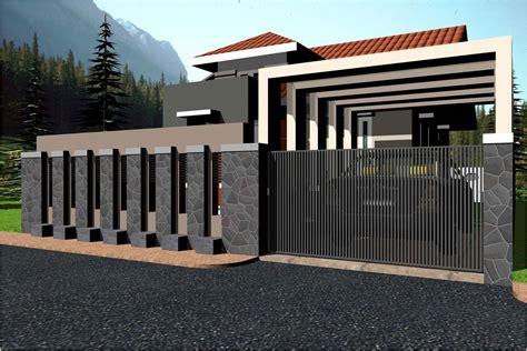 desain pagar minimalis modern modern fence wall designs trends including desain pagar
