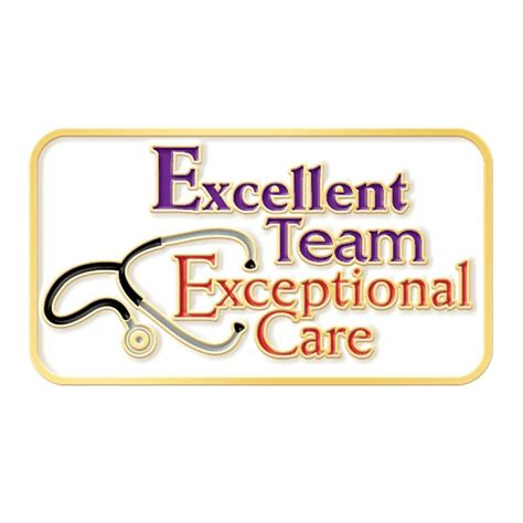excellent team exceptional care lapel pin  card positive promotions