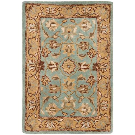 safavieh heritage blue gold 3 ft x 5 ft area rug hg958a