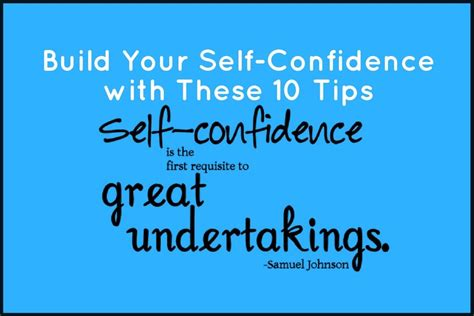 10 Secrets To Confidence by Build Your Self Confidence With These 10 Tips Tackling