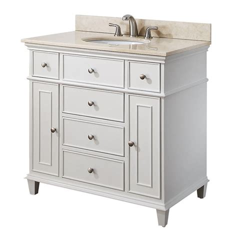 White Vanity Cabinets For Bathrooms Avanity 36 Inch White Traditional Single Bathroom Vanity V36 Wt At