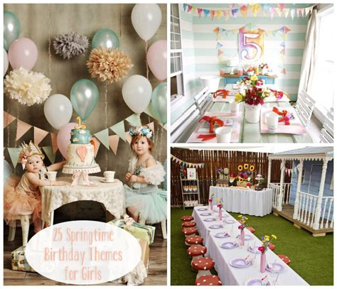 themes first birthday party baby girl little lovables lovely springtime birthday party themes