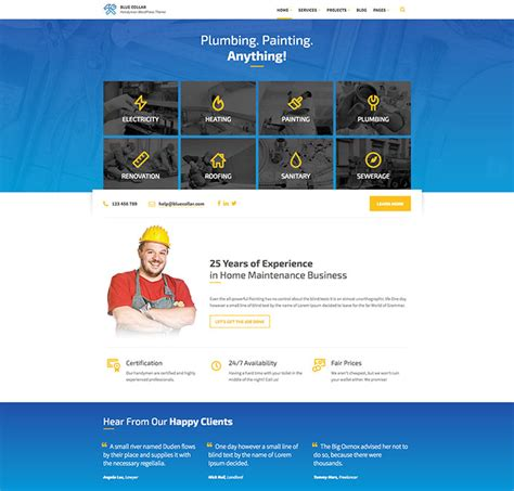 best home improvement websites 20 best home improvement wordpress themes web graphic
