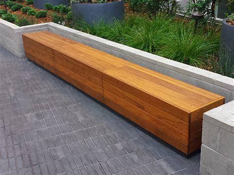 ipe wood bench benches ernsdorf design concrete fire pit bowls
