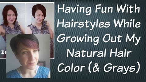 growing out hair color hairstyles while growing out grey hair hair