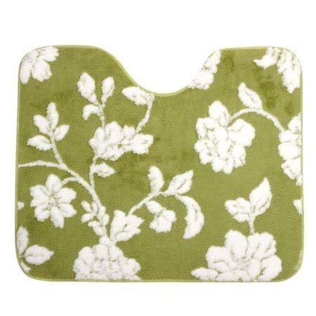 Bath Flower Green bathroom u shaped flower pattern bath carpet contour rug