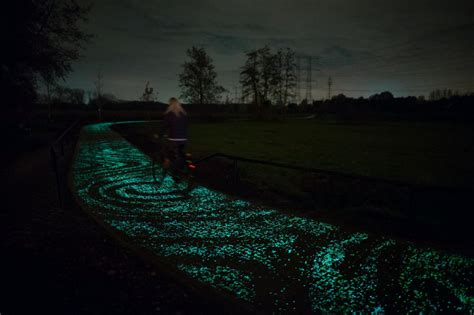 glow in the paint toronto firm wants to replicate glow in the bike path