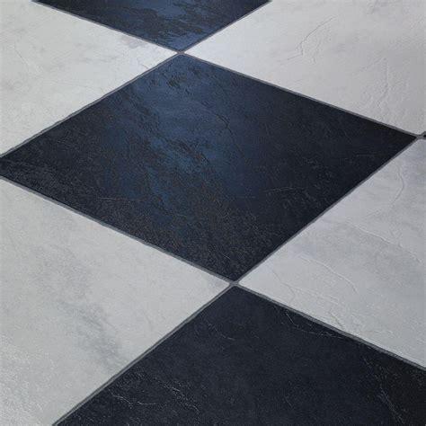 Black And White Tile Laminate Flooring