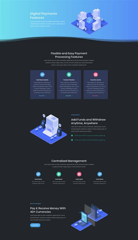 layout features of a website super stylish and unique divi layout pack for digital