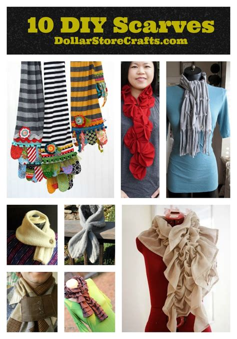 10 cozy no knit scarves 187 dollar store crafts