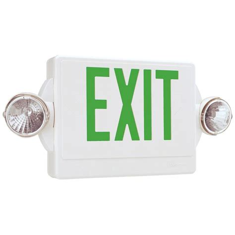 Exit Light Fixtures Lithonia Lighting Quantum 2 Light Thermoplastic Led Emergency Exit Sign Fixture Unit Combo Lhqm