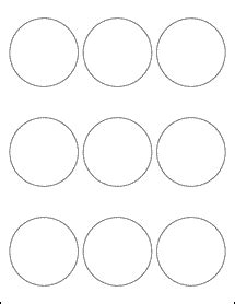 2 5 Quot Circle Labels Ol2683 2 5 Inch Label Template