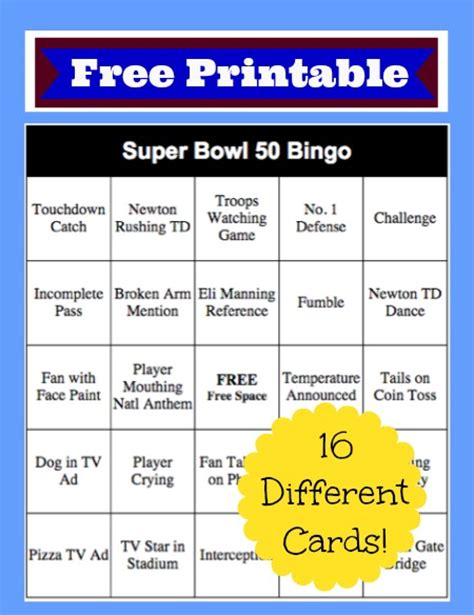 printable games for super bowl search results for super bowl 2016 bingo calendar 2015