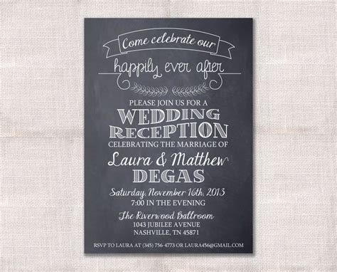 in wedding reception invitations wedding reception celebration after invitation custom