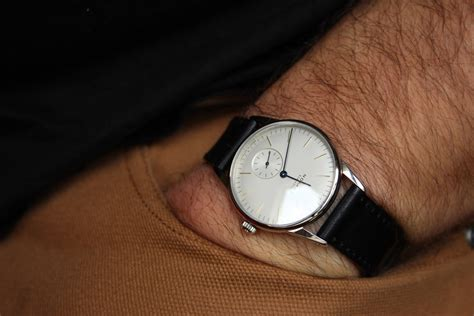 Iwc Portuguis Leather Silver White Matic a week on the wrist the nomos hodinkee