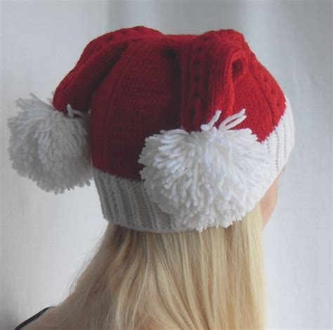 knit santa hat tailed knitted santa hat like s hat from big