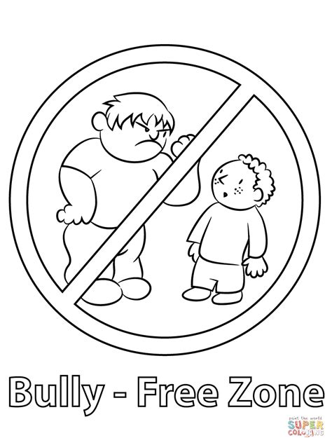 coloring book zone antibullying coloring printable coloring pages