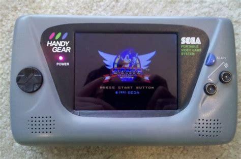 game gear battery mod game gear mod handy gear adds bigger screen rechargeable