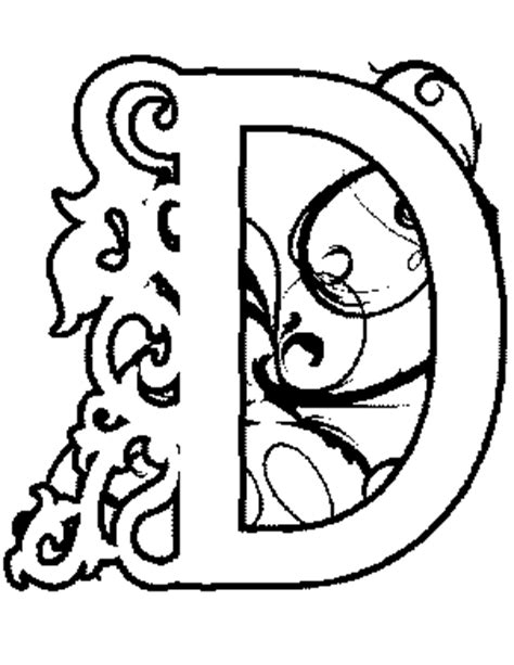 coloring pages illuminated letters illuminated d coloring page