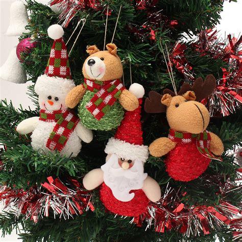 christmas haning dolls ornaments snowman reindeer santa