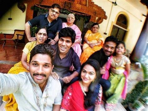 actor bharath son name allu arjun family photos stylish star bunny wife sneha