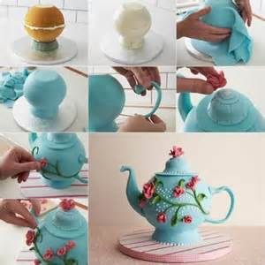 how to make edible cake decorations at home teapot cake decoration diy tutorial diy tag