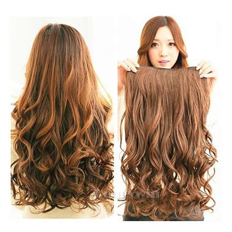 Hair Clip Big Layer Curly Hairclip Black Brown Hairclip Wig Rambut vktech width 25cm stylish curl