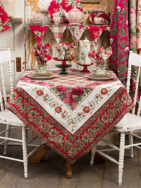 To Market Recap Cground Tablecloth by Flea Market Patchwork Tablecloth Linens Kitchen