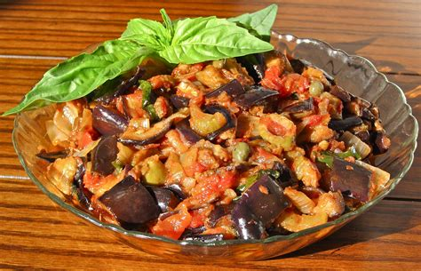 Beautiful House Images by Caponata Siciliana Eggplant And Vegetable Cooked Salad