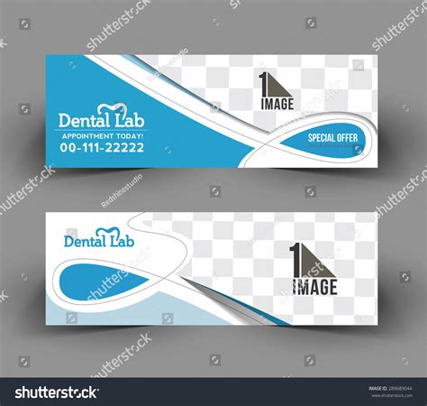 banner design for dental clinic dental care header banner design stock vector 289689044