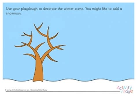 printable winter playdough mats snowman playdough mat
