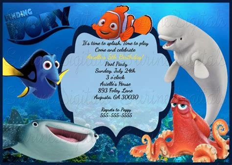 49 Best Images About Finding Dory 1st Birthday On Pinterest Birthdays Party Favors And Finding Dory Birthday Invitations Template