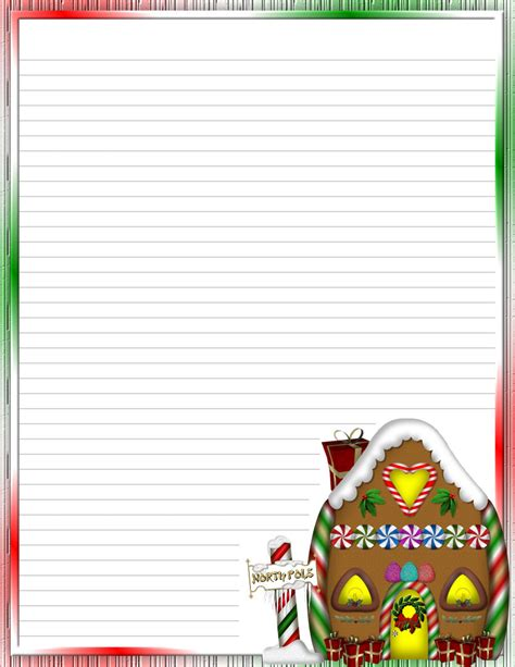 xmas stationery printable christmas 2 free stationery com template downloads