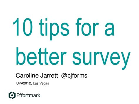 10 Tips For Being A Better Lover by 10 Tips For A Better Ux Survey