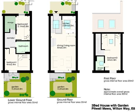 terraced house floor plan terraced house plans