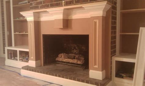 attaching mdf mantel  existing brick fireplace general