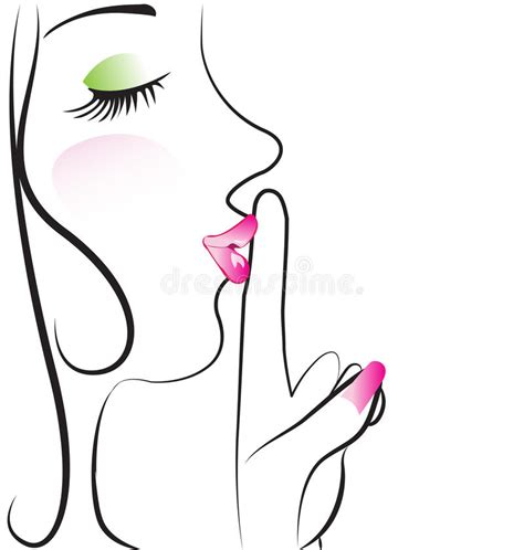 lade di design silence sign logo vector stock images image